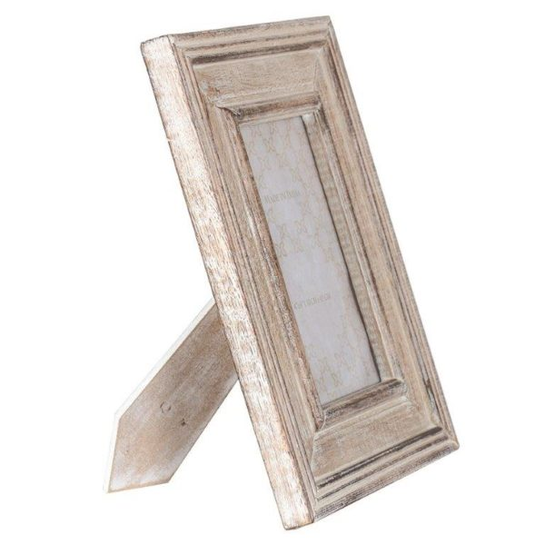 Handcrafted burnt white scroll photo frame