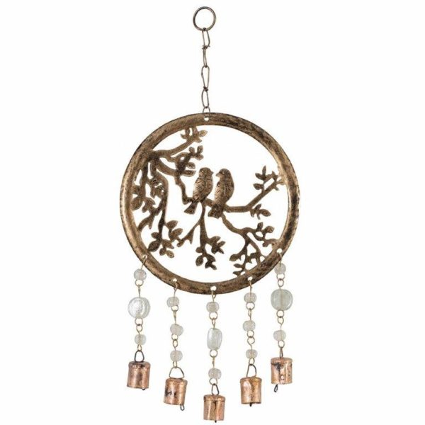 Handcrafted tree of life chime with birds beads and bells