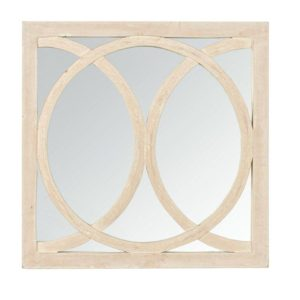 Handcrafted square circolo mirror
