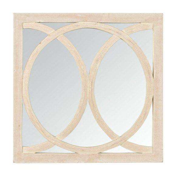 Handcrafted square circolo mirror