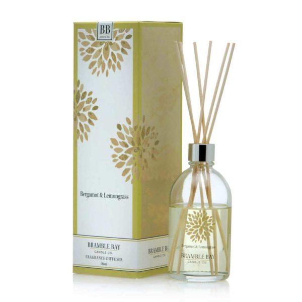 Bergamont & Lemongrass - 180 ml Australian made reed diffuser