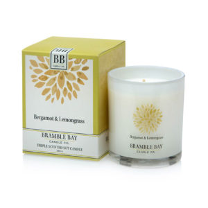 Bergamot & Lemongrass triple scented candle, hand poured in Australia using 100% eco friendly premium soy wax