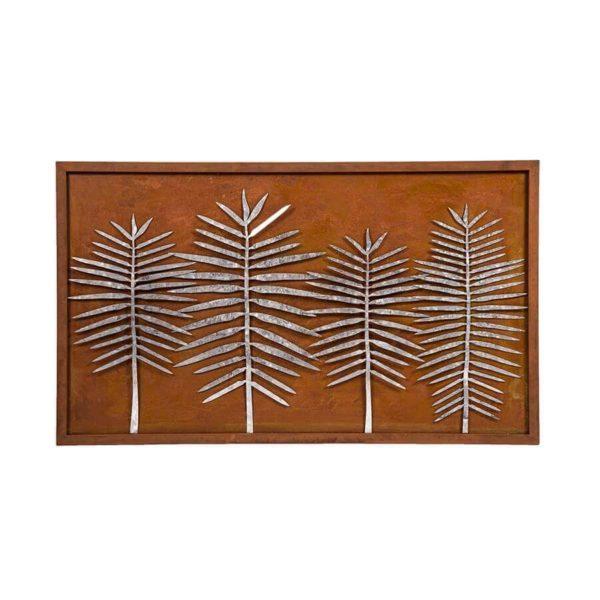 Clearance sale distressed metal leaf art