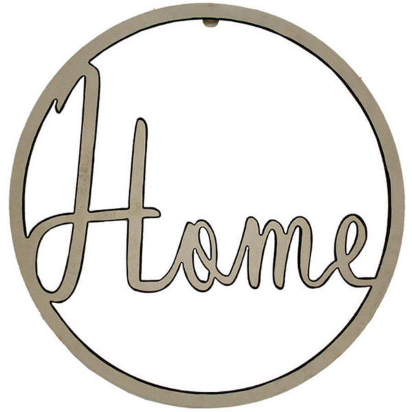 Clearance sale laser cut 'home' wall hanging