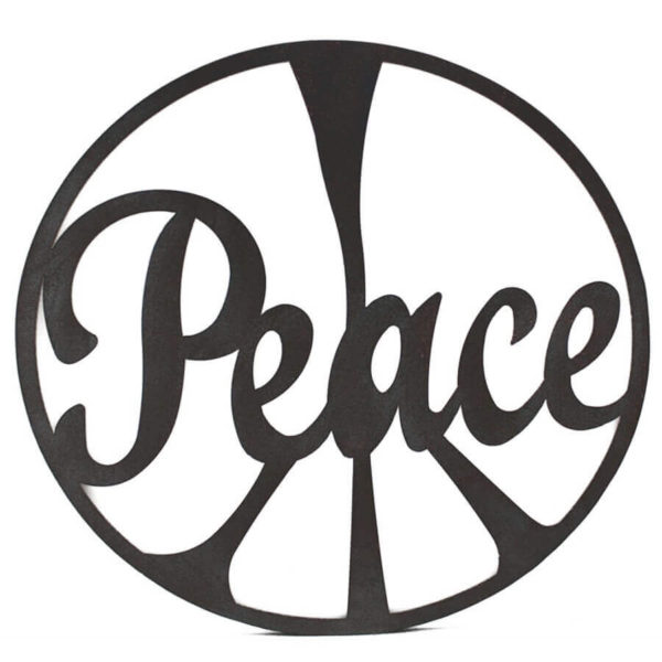 Clearance sale laser cut peace wall hanging size 60 cm diameter