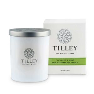 Coconut & Lime - 240g Australian made triple scented soy wax candle