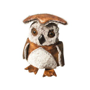 Faux Leather Hedwig The Owl Door Stop