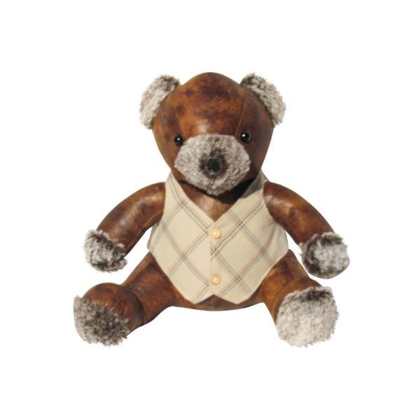 Faux Leather Teddy door stop