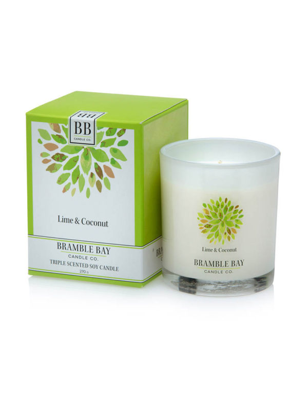 Lime & Coconut - triple scented candle, hand poured in Australia