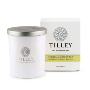 Magnolia & Green Tea - 240g Australian made triple scented soy wax candle