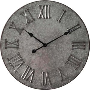 Metal roman numerals wall clock