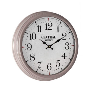 Off-white framed Central Station wall clock