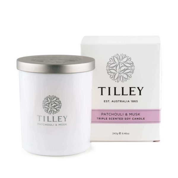 Patchouli & Musk - 240g Australian made triple scented soy wax candle