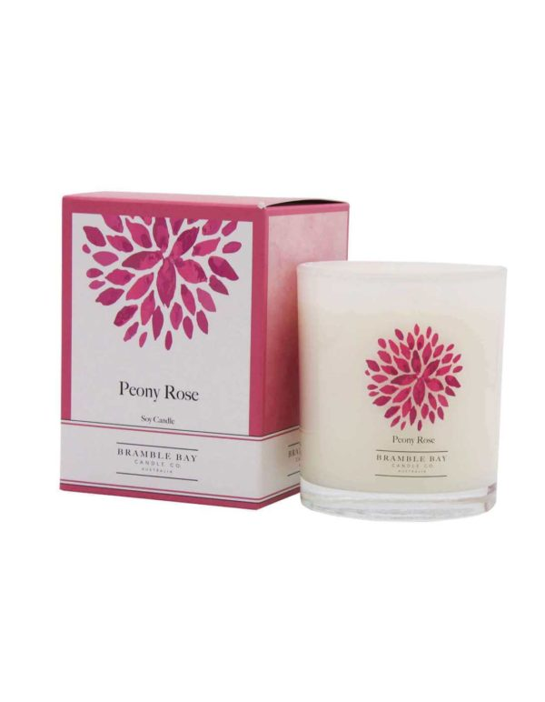 Peony Rose - triple scented candle, hand poured in Australia