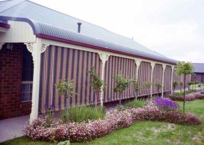 Straight drop veranda blinds - custom-designed & manufactured in South Australia