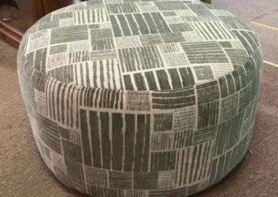 We designed this ottoman using locally produced fabric for a client's living room in Gawler