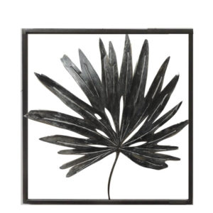 black palm single leaf wall art