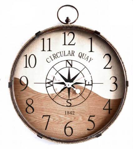 circular quay 1842 wall clock