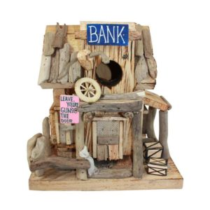 driftwood bank birdhouse
