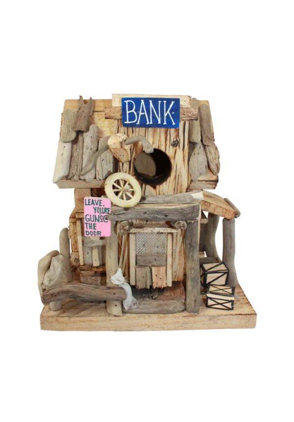 driftwood bank birdhouse
