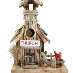 driftwood church birdhouse
