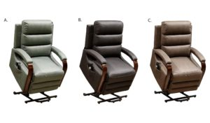Albert electric lift recliner chair available in 3 colours Avocado, jet and Grey super suede