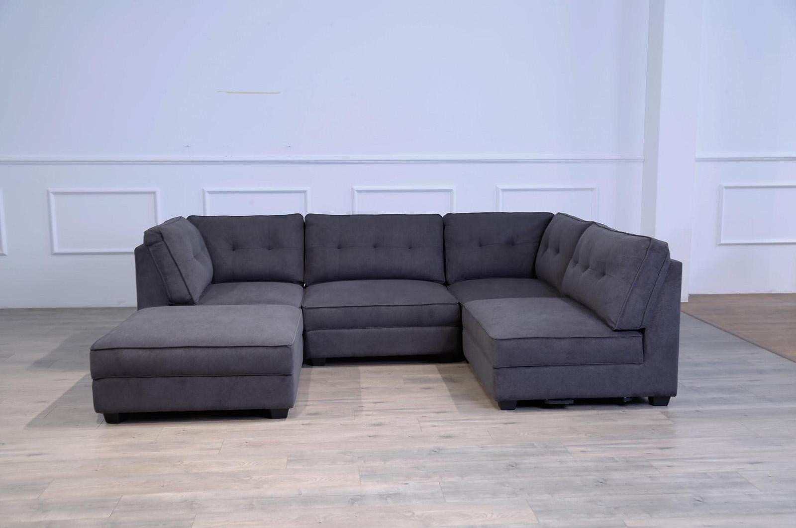 Hoffman modular lounge with ottoman